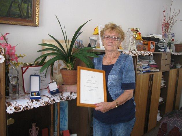 Dlouholetá pracovnice a ředitelka OS ČČK Kladno Stanislava Klicmanová.