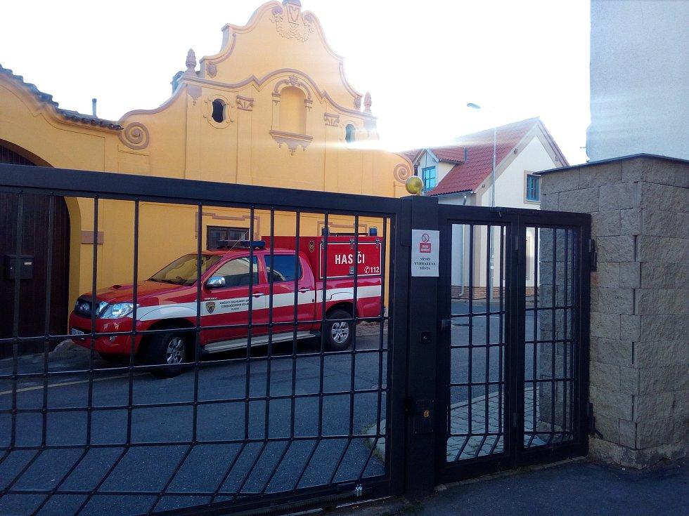 Požár v Domově se zvláštním režimem v Unhošti.