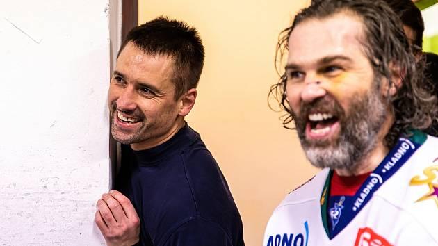 Dvojka Jaromír Jágr a Tomáš Plekanec v dobrém rozmaru. Společně povedou Kladno do extraligy.