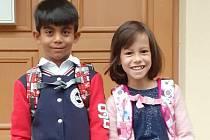 Sofinka s Martinem vyrazili poprvé do nové školy.