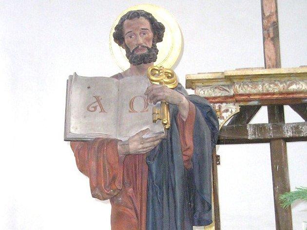 ODCIZENÁ SOCHA byla součástí oltáře kostela v Žilině.