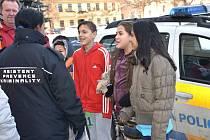 Asistenti prevence kriminality v ulicích Slaného