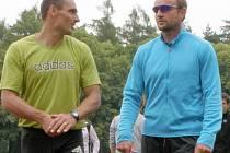 Věční soupeři - Roman Šebrle a Tomáš Dvořák.