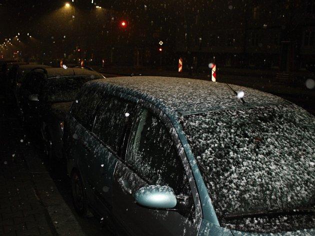 První sníh na Kladensku