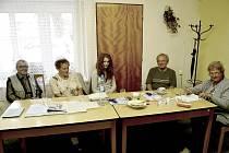 Volební komise v Malíkovicích.