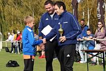 Meziokresní turnaj fotbalových výběrů U11 a U12 v Kladně-Švermově se zúčastnily týmy Kladno, Rakovník, Beroun a Mělník.