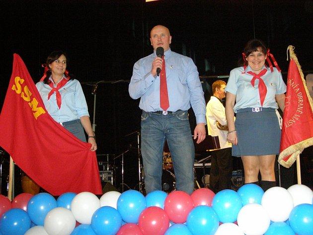 Oslava čtyřicátého výročí otevření Domu kultury v Kladně.