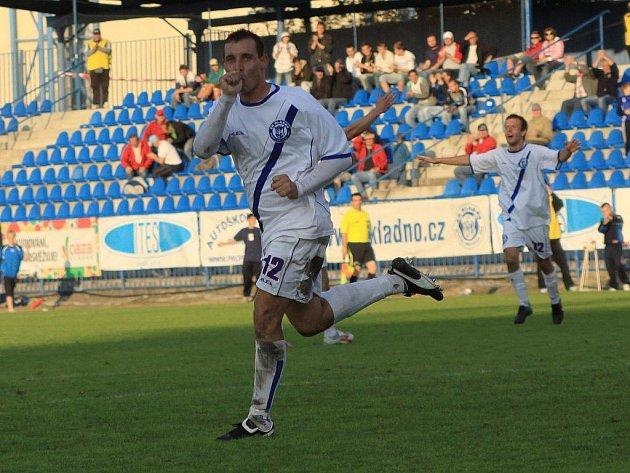Střelec vyrovnávací branky Michal Zachariáš // SK Kladno - Fotbal Třinec 1:1 (0:1) , utkání 6.k. 2. ligy 2010/11, hráno 5.9.2010