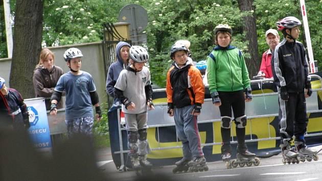 První závod KEB in-line bruslení se o víkendu konal na Sletišti.