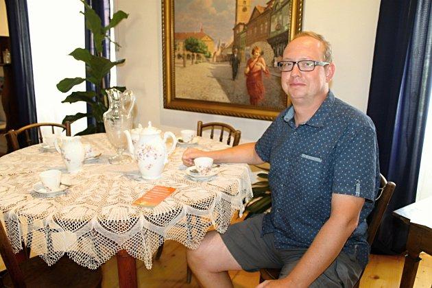 Ředitel Vlastivědného muzea Slaný Jan Čečrdle.