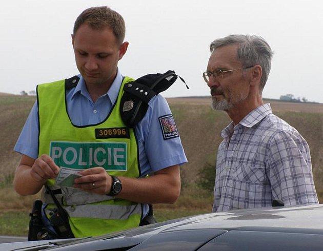 Policejní dopravní akce na Velvarsku, pátek 14.8.2009.