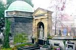 Slaný. Hrob dlouholetého starosty Slaného Karla Hubatky
