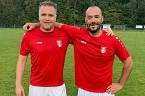 Bratranci po 32 letech v jednom týmu: Jiří Veselý (vlevo) a Ondřej Špalek.
