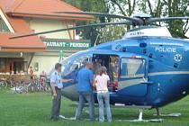 Na místě nehody zasahovala i Letecká záchranná služba.