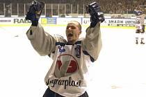 Bývalý hokejista Michal Havel při baráži Kladno - Havířov, v níž dal Havel svůj nejslavnější gól.