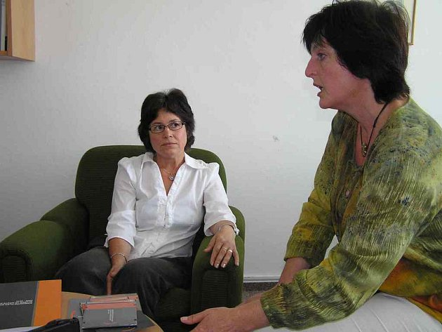 Marie Vacková (vlevo) a Ludmila Švecová.