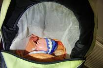 V kočárku byla panenka.