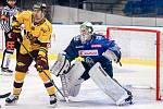 Šlágr hokejové Chance ligy Kladno - Jihlava okořenil návrat Jaromíra Jágra na led. Andrej Košarišťan