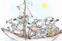 MYŠÁCI při plavbě po řece Berounce v podání Marcely Alfonso.