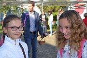 Děti si užily první školní den také v Tuchlovicích.