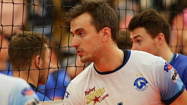 Filip Křesťan je jedním z pilířů týmu Kladna // Kladno volejbal cz - Aero Odolená Voda 3:0, EX-M čtvrtfinále, Kladno, 15. 3. 2017