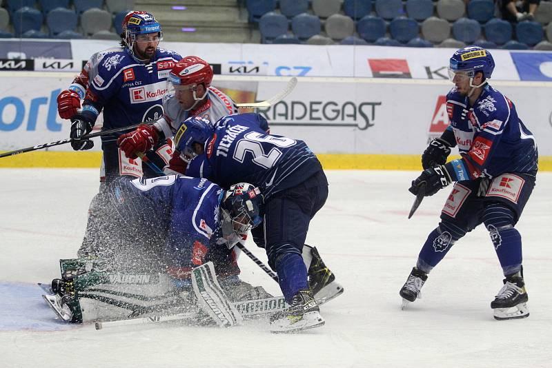 Kladenští hokejisté doma v Chomutově prohráli s Hradcem Králové 0:3.