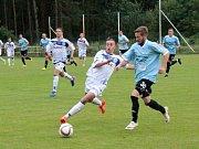 SK Kladno (v bílém) v Srbech remizovalo s třetiligovým Vyšehradem 1:1.