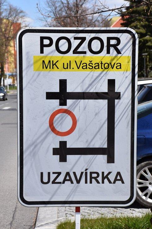 Uzavírka v Kladně.