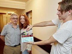 Jedna z filmových klapek komedie Pepa, která se natáčí i v Kladně