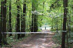 Oblast kolem rybníku byla okamžitě obehnána policejními páskami.