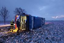 Nehoda autobusu u Kyšic.