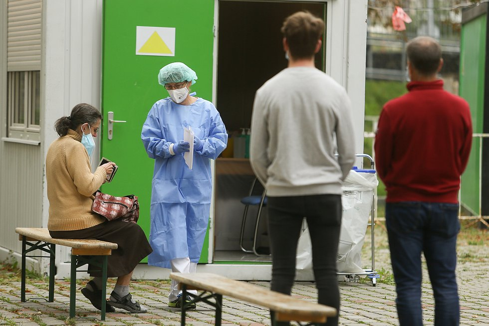 Druhá vlna koronaviru v Kladně v září 2020.