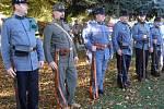 Pietní akt k uctění památky obyvatel Hřebče padlých v 1. světové válce.