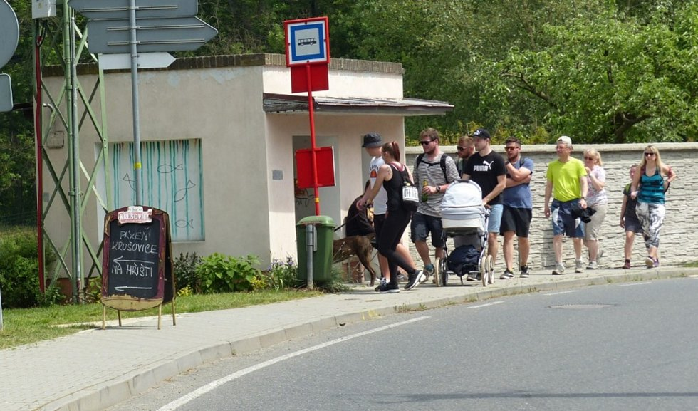 Družecká šlápota přivítala pěší i cyklisty.