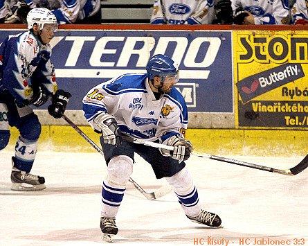 HC Řisuty - HC Jablonečtí Vlci 3:3,  7. únor 2009, 2.liga, skupina Západ, 31. kolo