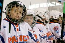 Hokejové naděje trénují ve Slaném pod vedením Mikaela Pančáka.
