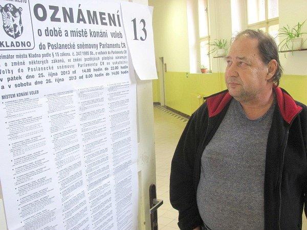Volební dění ve Strojní průmyslové škole vKladně.