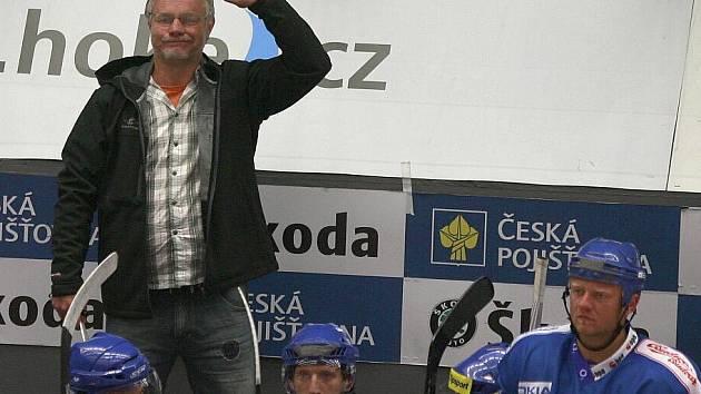 České Budějovice - Kladno 4:3. Zdeněk Vojta se hněvá