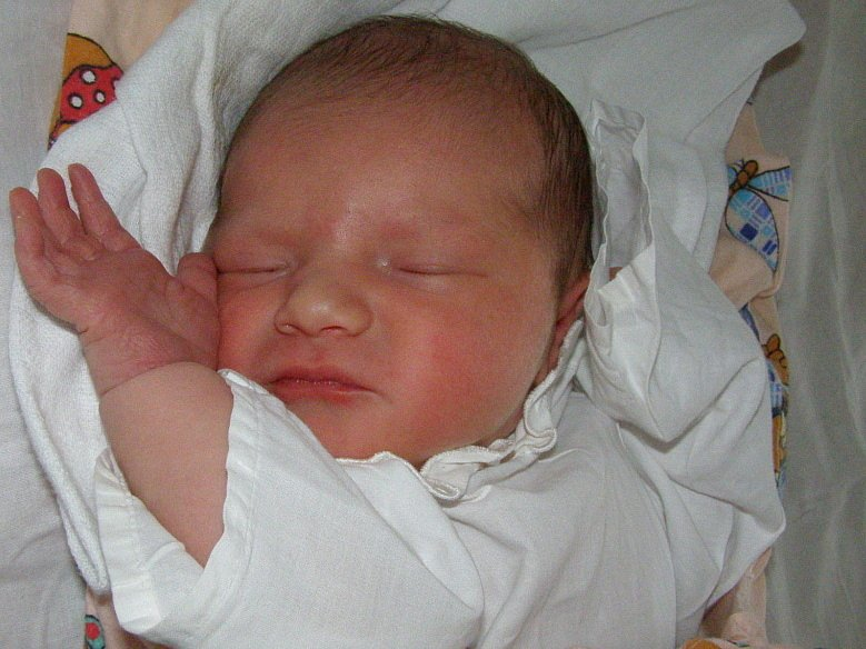 Karolína Tiefová, Libušín, 23. 9. 2008, váha 3,36 kg, míra 50 cm, rodiče Martina a Karel Tiefovi (porodnice Kladno).