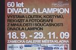 Divadlo Lampion Kladno.Výstava k výročí 60 let existence divadla.