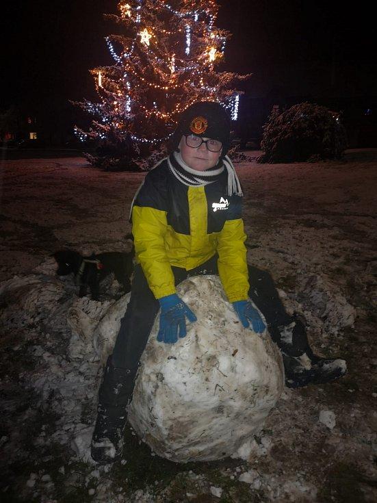 Sníh ve Smečně.