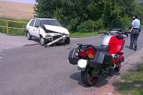 Nehoda motocyklu a auta, Klobuky 25. července 2012