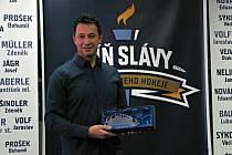 Otevření Síně slávy kladenského hokeje. František Kaberle ml.