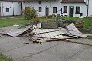 Škody od vichru na Velvarsku a Slánsku