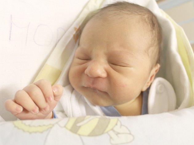 David Moravec, Slaný. Narodil se 10. června 2013. Váha 3,4 kg, míra 50 cm. Rodiče jsou Petra a David Moravcovi  (porodnice Slaný).