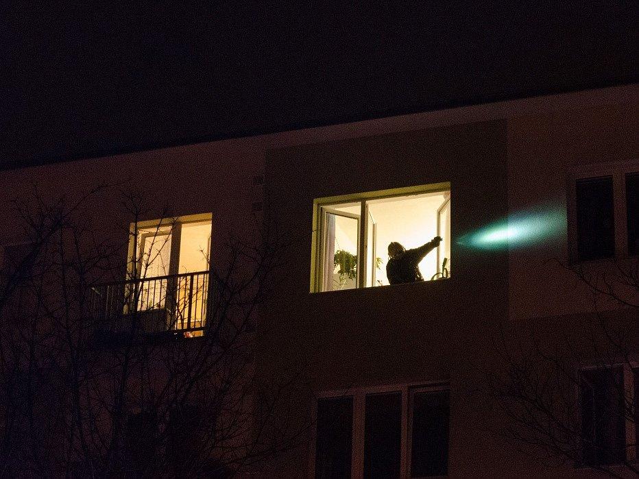 Požár bytu v ulici Milady Horákové.
