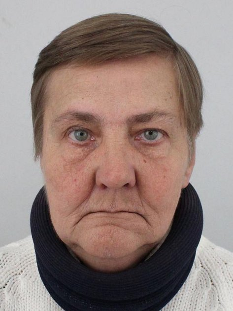 Pohřešovaná Věra Šléglová, narozena  9.2.1953.