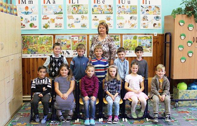 Prvňáčci ze Základní školy Kladno – Švermov, Jiráskova 457, pod vedením učitelky Šárky Loudové.