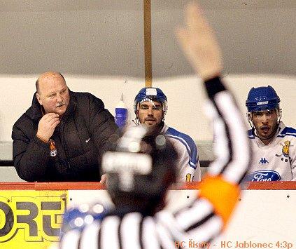 HC Řisuty - HC Jablonečtí Vlci 4:3p, 7. únor 2009 /2.liga, skupina Západ / 31. kolo