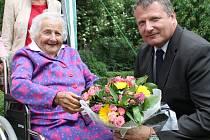 Helena Horáková z Kladna-Švermova slaví 17. června 2016 své 103. narozeniny